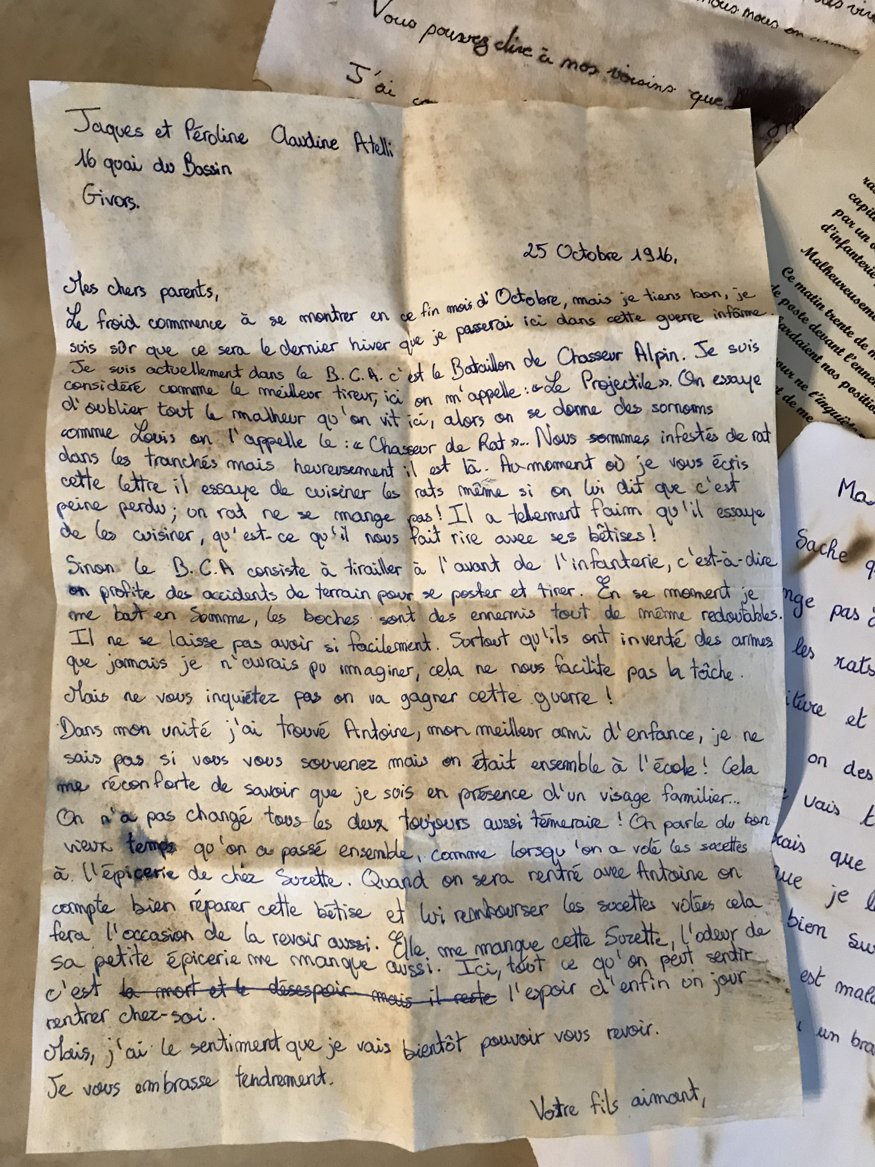 lettres de poilus  u2013 3 u00e8me  u2013 coll u00e8ge paul vallon