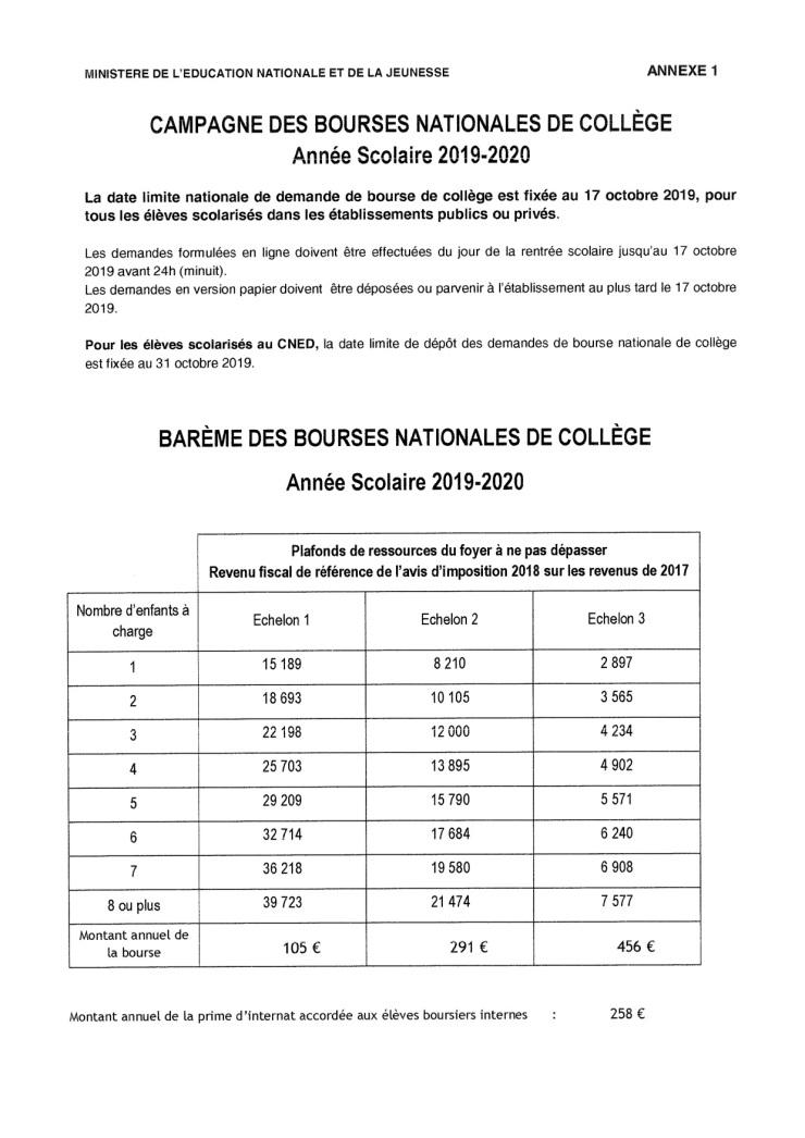 BOURSES COLLEGE-2
