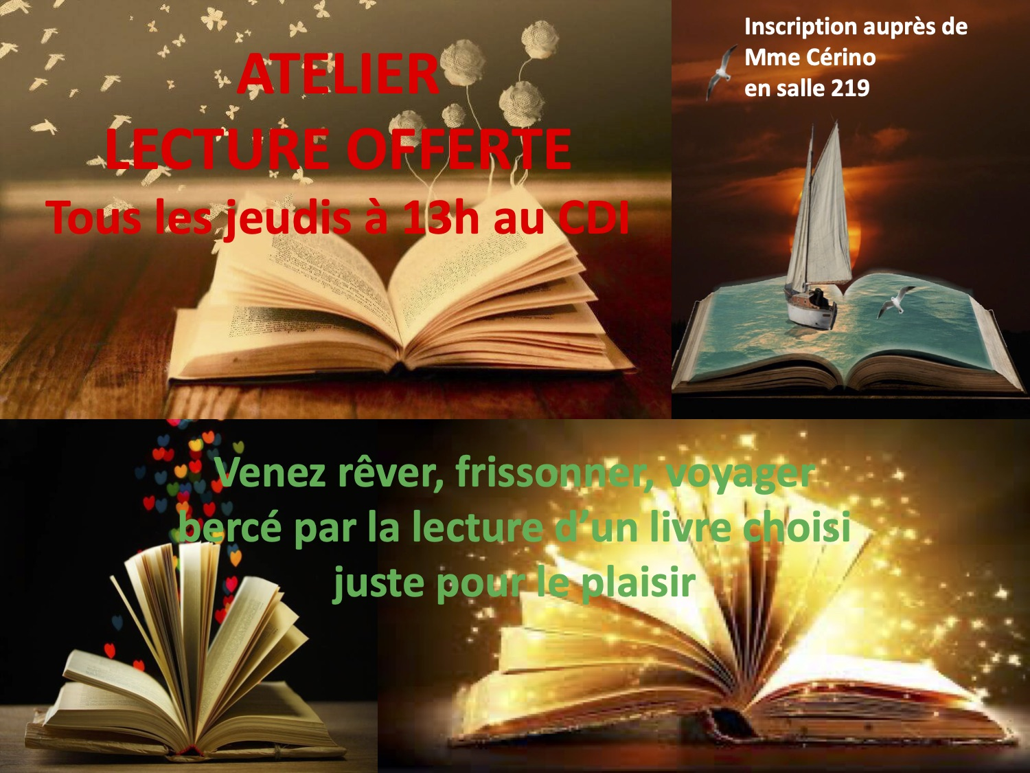 atelier lecture offerte